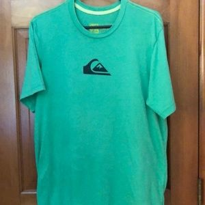 Quiksilver Vintage Lime Green T shirt XL